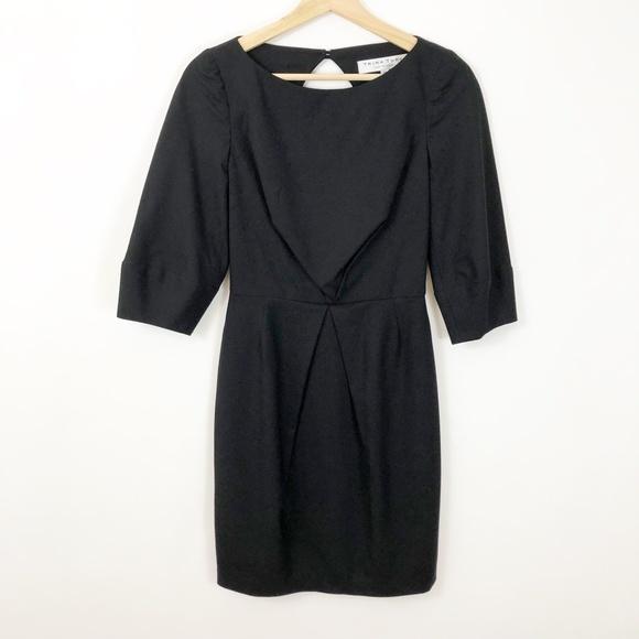 Trina Turk Dresses & Skirts - Trina Truk Black Wool Tailored Open Back Dress, 0